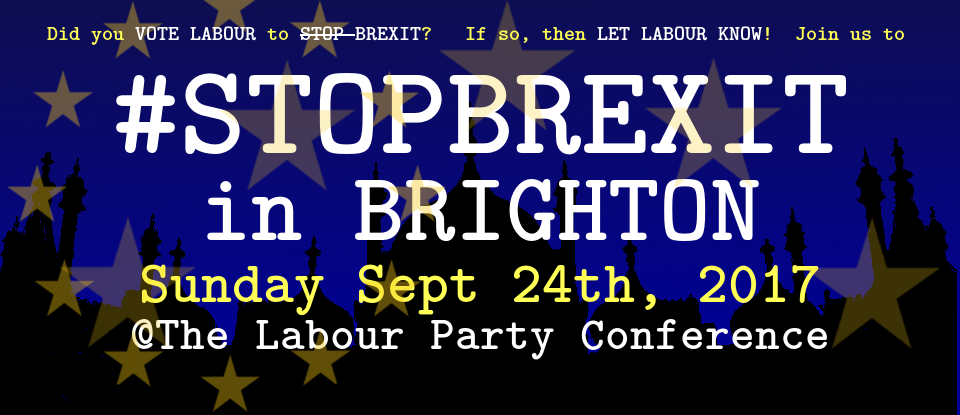 Stop Brexit in Brighton – Sept 24th