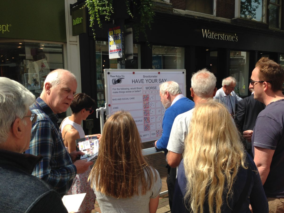 Brexitometer in Tunbridge Wells