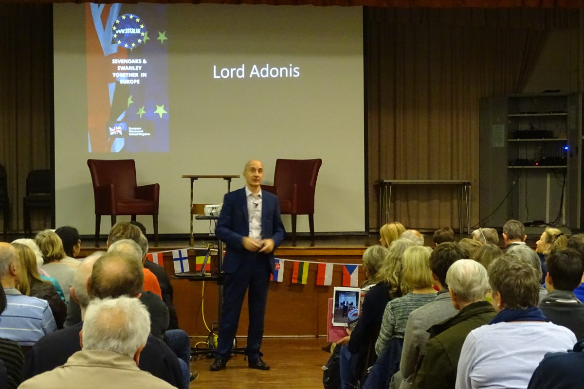 Lord Adonis speaks to Sevenoaks, 6 October 2018