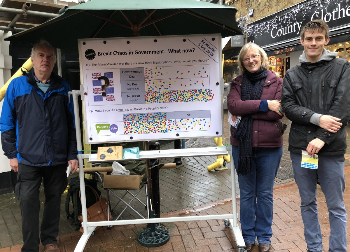 Sevenoaks shoppers agree with Sir Michael Fallon MP