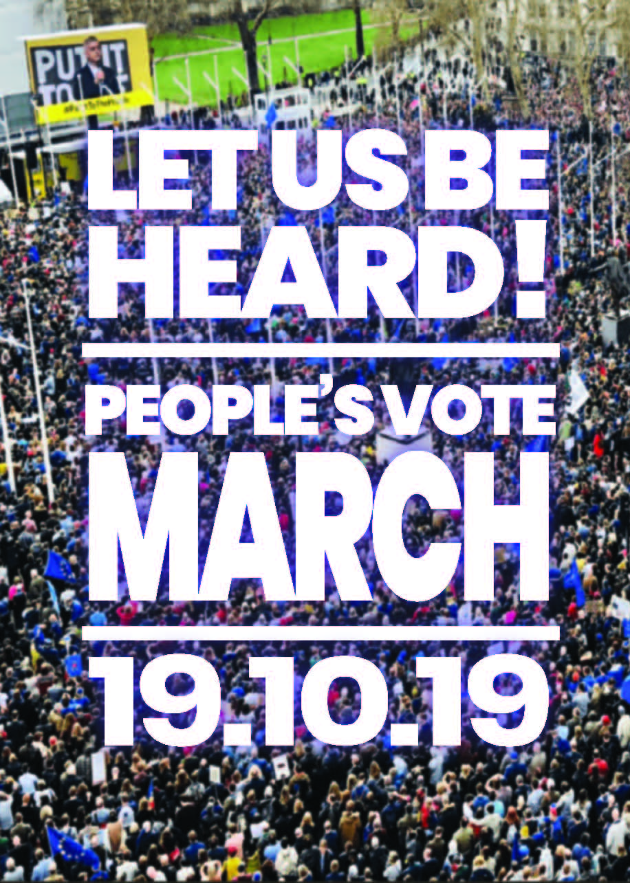 Arrangements for the People's Vote March – 19 October 2019